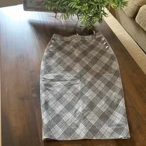 The Limited Skirts - Limited skirt - Grey/white plaid